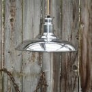 VINTAGE STYLE POLISHED ALUMINIUM CAFE HANGING LIGHT PENDANT LAMP CEILING SHADE