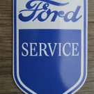 Superb heavy quality porcelain advertising sign Ford service garage plaque BLUE