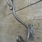 A STYLISH ANTIQUE STYLE TRUNK DOUBLE COATHOOK CAST IRON COAT HOOK RACK R4