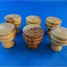 SET OF 6 CLASSIC VICTORIAN STYLE CHEST OF DRAWERS KNOBS HARDWOOD DRAWER KNOB SK3