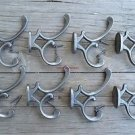 Set of 8 antique style cast iron Addison coat hook double coathooks c/w screws