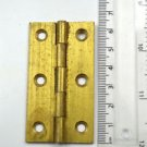 A brass vintage butt hinge table hinge box chest door P35