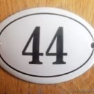 SMALL ANTIQUE STYLE ENAMEL DOOR NUMBER 44 SIGN PLAQUE HOUSE NUMBER FURNITURESIGN