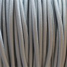 1 METER SILVER SILK COVERED 3 CORE LIGHT FLEX WIRE BRAIDED CORD HANGING LAMP B14