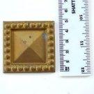Original antique pressed brass furniture mount mirror cartouche emblem B7