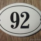 SMALL ANTIQUE STYLE ENAMEL DOOR NUMBER 92 SIGN PLAQUE HOUSE NUMBER FURNITURESIGN