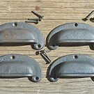 4 classic chunky cast iron vintage drawer pull handle industrial retro CS1