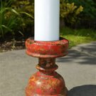 Antique hand carved wooden candlestick candle stand solid teakwood MM11
