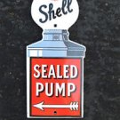 QUALITY ENAMEL SHELL SEALED PUMP OIL SIGN PLAQUE VINTAGE STYLE GARAGE WALL SIGN