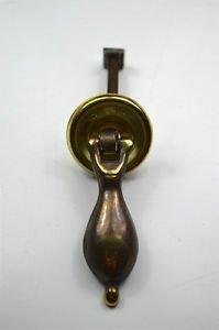 Vintage brass Jacobean drop furniture handle drawer pull P10