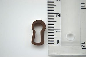 ANTIQUE STYLE BRASS FURNITURE ESCUTCHEON KEYHOLE KEY HOLE RZ4