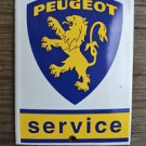 Heavy quality porcelain advertising sign Peugeot garage plaque square
