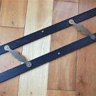Large original antique ebony & brass parallel ruler navigational instrument 3