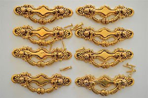 8 Victorian brass folliage drawer handle draw pull desk chest cabinet 2026