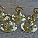 SET OF 5 ANTIQUE STYLE BRASS LIGHT ROSE HOOK CEILING HOOK CHADELIER HANGER NR6