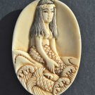 Hand carved mermaid pendant South seas island pendent charm sailor necklace M3