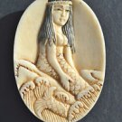 Hand carved mermaid pendant South seas island pendent charm sailor necklace M1