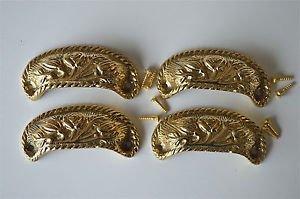 4 brass antique cup drawer handle dresser draw pull handle c/w screws 2002