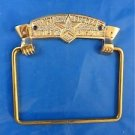 TRADITIONAL ANTIQUE STYLE No1 TOILET FIXTURE BRASS TOILET ROLL HOLDER WALL MOUNT