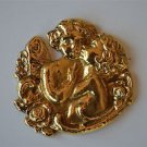Beautiful brass kissing fairies furniture mount mirror ormalu box cartouche 2023