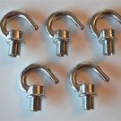 5 NICKEL BULB HOLDER LAMPHOLDER SCREW IN 10MM HOOK CHAIN LIGHT HOOK CEILING G2