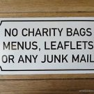 LARGE ANTIQUE STYLE ENAMEL NO JUNK MAIL DOOR SIGN WALL PLAQUE