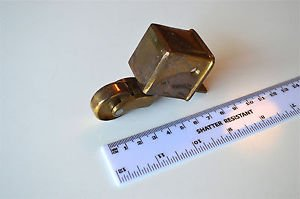 Good quality brass furniture castor square nose foot antique caster wheel c5