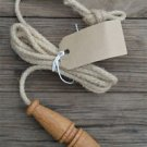 TURNED LIGHT PULL TOILET PULL HANGING ROPE PULL ENGLISH MADE