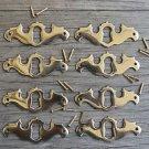 8 solid brass Georgian furniture escutcheon antique style keyhole plate SE1