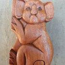 LOVELY HANDCARVED HARDWOOD KOALA PUZZLE BOX SECRET BOX