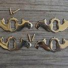 4 solid brass Georgian furniture escutcheon antique style keyhole plate SE1