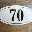 ANTIQUE STYLE ENAMEL DOOR NUMBER 70 HOUSE NUMBER DOOR SIGN PLAQUE