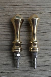 A pair of superb quality antique brass furniture clock finials finial Z10
