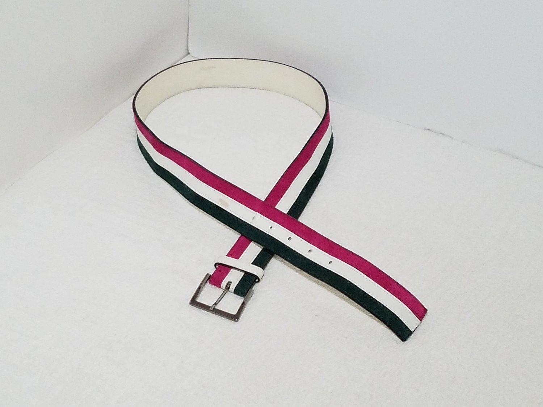 Vintage Mauro Grifoni Leather Suede Belt Silver Buckle