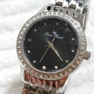 Lucien Piccard Monte Velan Silver Tone Black Dial Watch