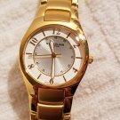 Stuhrling Watch Gold Tone Luminous Hands Swiss Made