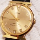 Vintage Hormelton Golden Eagle Gold Diamond Dial Swiss Made Watch
