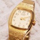 Vintage Retro Citizen Gold Tone Watch