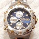 Vintage Seiko Chronograph Alarm Date Quartz Watch Stainless Steel Men's