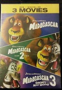 MADAGASCAR / ESCAPE 2 AFRICA / MADAGASCAR 3: EUROPE'S MOST WANTED DVD + DIGITAL