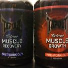 Tapout Extreme Muscle Supplements Pre- Post- Workout 60ct NEW