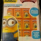 MINIONS VALENTINE STICKER PACKS 16 STICKER BOXES 2 PACK NEW!!!