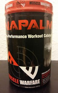 MUSCLE WARFARE NAPALM Pre Workout Performance Powder NEW FORMULA. FREE SHIPPING!