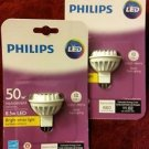 2 Philips 9290011504 12v 8.5w MRX16 LED Bulb, 50w Replacement, 660 Lumens 3000K