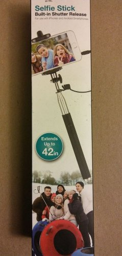 Vivitar Selfie Stick Built-in Shutter Release Black For Use With iPhones Android