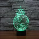 BB 8 Star Wars 7 color changing visual illusion LED lamp