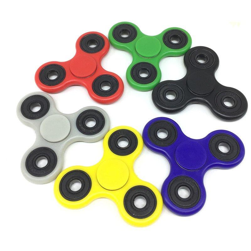 Hand Spinner Tri Fidget Ceramic Ball Desk Toy EDC Stocking Stuffer Kids/Adult