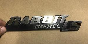 VW Oem MK1 Rabbit Diesel LS Badge Rare SHIPS FAST!!