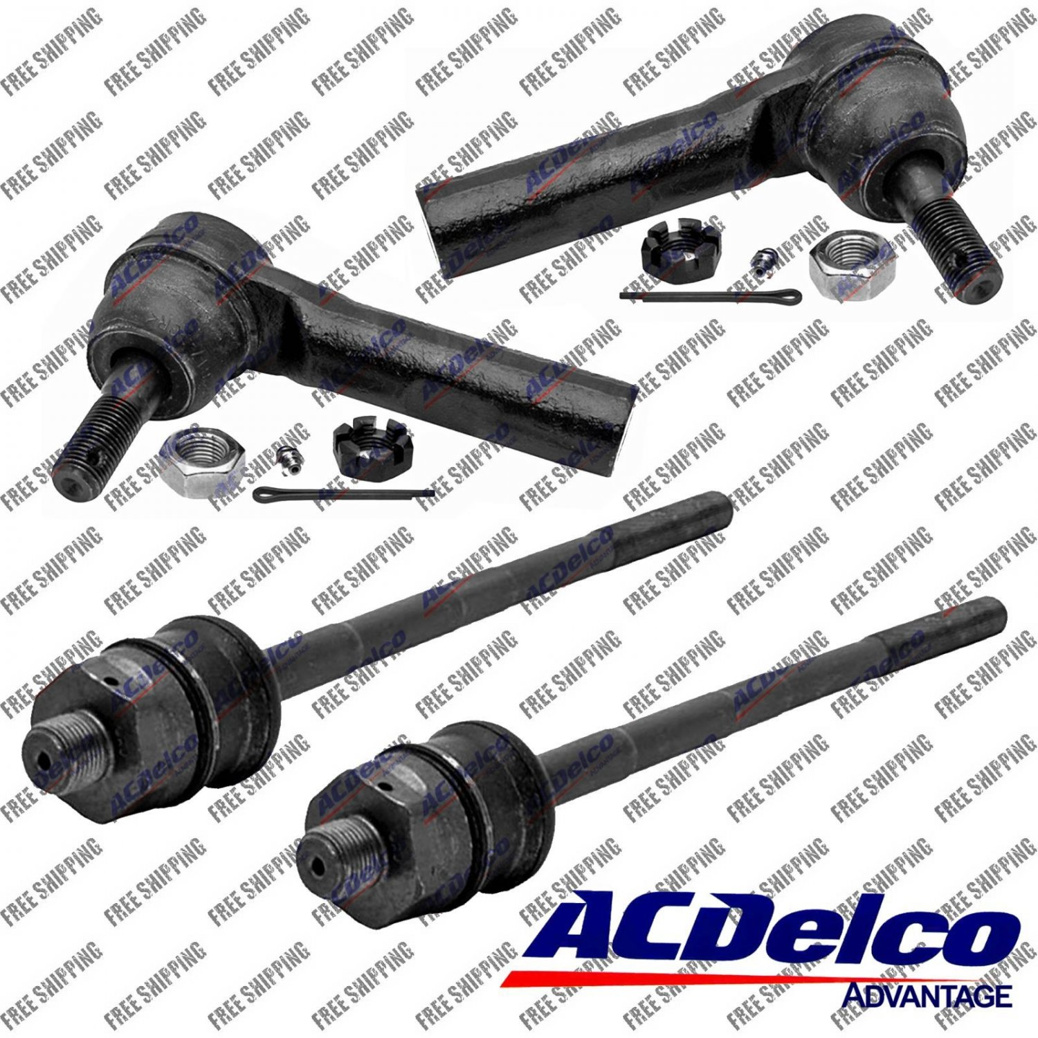 New Steering Tie Rod End Set ACDelco Advantage 46A0785A 46A0787A Fits GMC Yukon