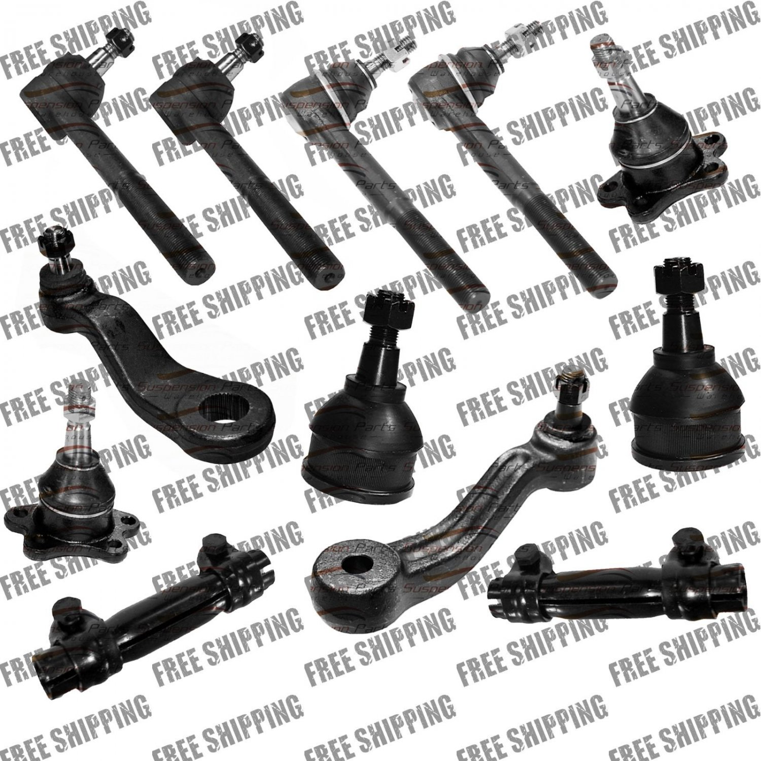 New Tie Rods Ball Joints Steering Kit For 2WD Truck 00-93 Chevy C1500,2500,Tahoe